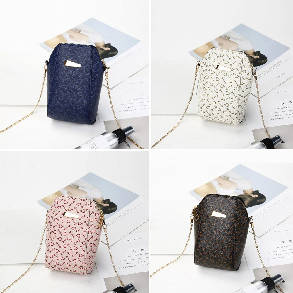 Cute Shell Wallet Mobile Phone Crossbody Bag Flower Pattern Shoulder Messenger Bags Chain Small Bag Girls Leather Chain Purses