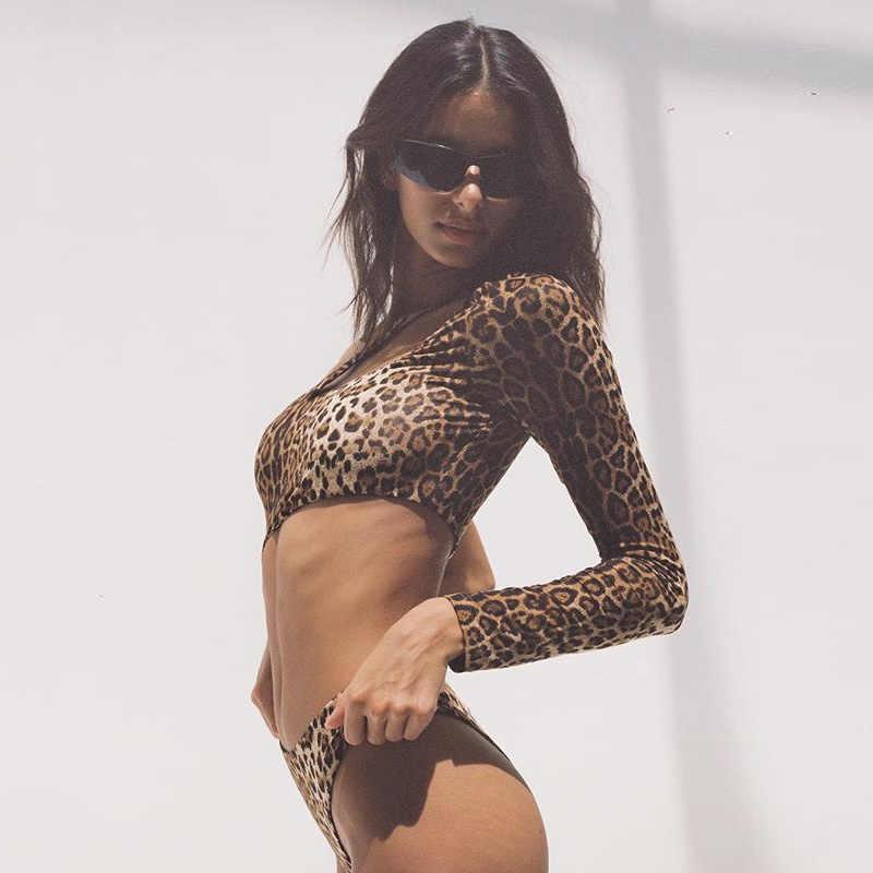4b81e33650 XLLAIS Fall 2018 Leopard Print Bodysuit Women One Shoulder Skinny Cut Out  Jumpsuit Womens Clothing Cute