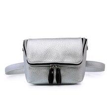 Derékzsák női divat Fanny Pack pénz öv táskák tizenéves lányok Mini váll Messenger táskák Telefon alsónemű csomagok Fekete
