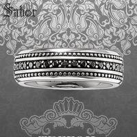 Overtaking Lane Wedding Eternity Rings, 925 Sterling Silver Fashion Jewelry Punk Gift For Women & Men 2019 Alliance thomas