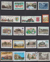 50Pcs/Pack Architecture Building All Different From Many Countries NO Repeat Unused Postage Stamps for Collecting