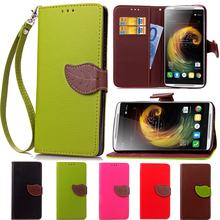 Leaf Card Holder Case For Lenovo Lemon 3 X3 K4 K3 Note P1 P70 P780 S850 S90 A2010 A5000 A536 Wallet Stand Flip Leather Cover
