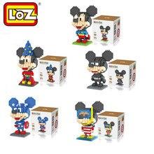 Mickey Cosplay Super Man/Batman/Enchanter/Diving LOZ Bricks Diamond Building Blocks Intellectual Development Toys Minifigure