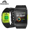 Makibes BR1 GPS mannen Vrouwen Smart Horloges Bluetooth Strava ECG PPG Horloge Fitness Tracker Wearable Apparaten Slimme Band