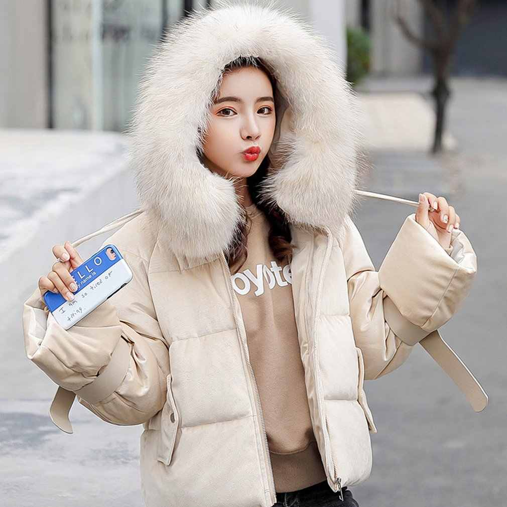 ac935d609cd 2018 Winter Jacket Women Plus Size Womens Thicken Outerwear Solid Hooded Coats  Short Female Slim Cotton