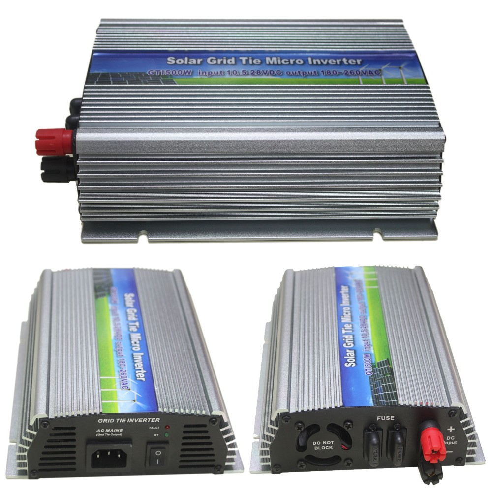 Electrical & Solar Bright 110v 1200w Mppt Waterproof Solar Grid Tie Inverter Dc22-50v Power Inverter Chargers & Inverters