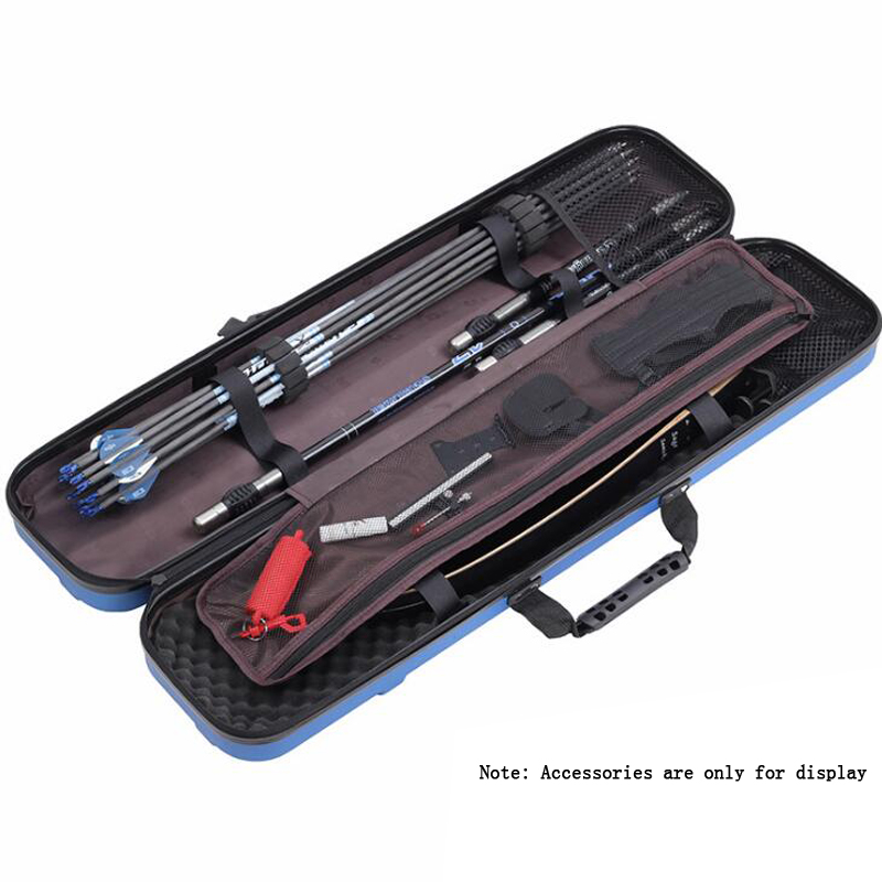 90*20*13cm Archery Recurve Bow Box Large Capacity High Quality ABS for Archery Accessory Hunting Shooting