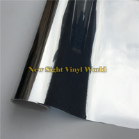 VLT 5 Mirror Window Tinting FIlm Silver Window Tint For Buliding Home Office Glass Size 1