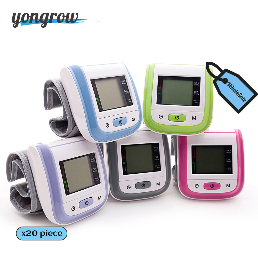 Yongrow Wholesale Wrist Blood Pressure Monitor Health Care Blood Testing Machine Automatic Digital Blood Pressure Meter health care wrist pressure monitor digital blood glucose watch