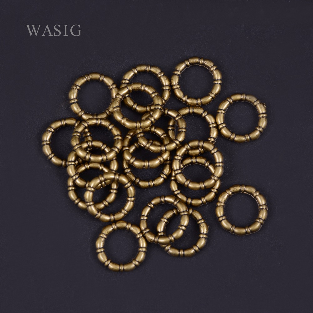 20Pcs/Lot Antique Brass hair braid dread dreadlock beads cuffs tuber approx 9mm inner hole