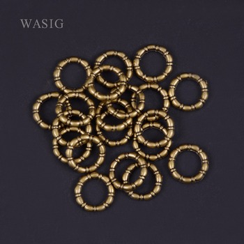 20Pcs/Lot Antique Brass hair braid dread dreadlock beads cuffs tuber approx 9mm inner hole - sale item Hair Tools & Accessories