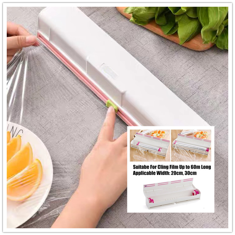 20cm/30cm Cling Film Knife Sliding Blade Food Grade ABS Kitchen Tool Foil And Cling Film Wrap Dispenser Cutter For Food Film