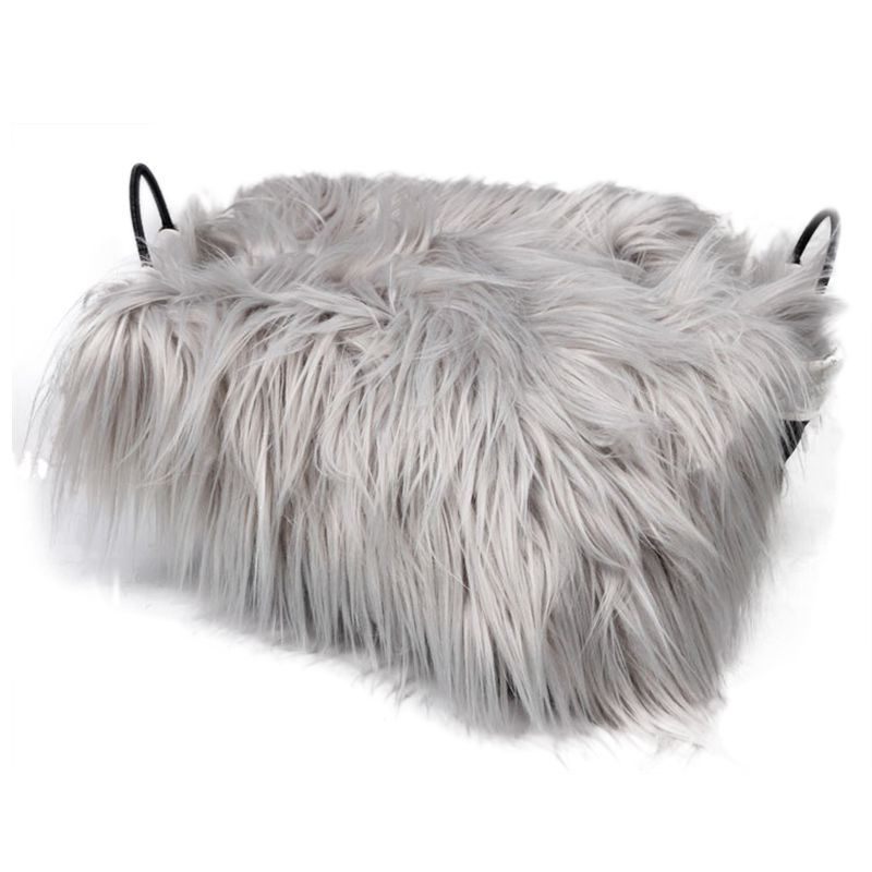 Baby Newborn Faux Fur Photography Photo Props Blanket Basket Stuffer Rug Beanbag Background Backdrop Light Grey