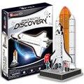 Шаттл Discovery Модель 3D Мерных Головоломки DIY детские Образовательные Головоломки Игрушки для Подарка