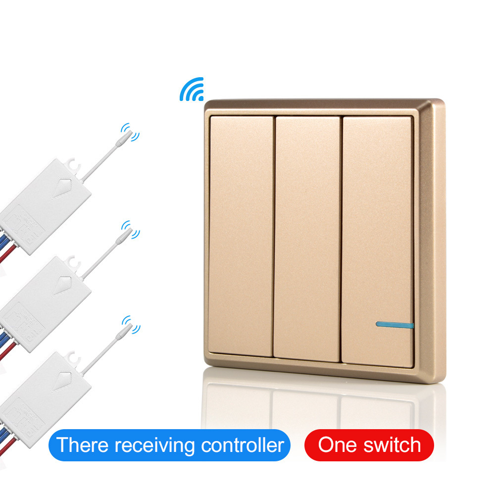 No Battery Need Wireless Remote Control Light Switches Wire Self Wiring For Wall Switch And Receiver Kit Waterproof Ceiling