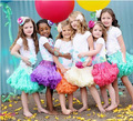 20 Multi-color Soft Tulle Size S Todder Tutu Skirt Short Petticoat High Quality Puffy Tutus with Satin Bow Tutu for Flower Girls