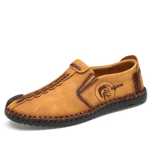 2018 New Comfortable Casual Shoes Loafers Men Shoes Quality Split Leather Shoes