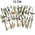 LOL Weapon Action Figures Games Garen Katarina Leona Riven Metal Model Keychain Toys Pendant Children Kids Gifts Toys Figurine