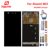 LCD Screen Touch Screen Touch Panel For XIAOMI MI3 Smartphone Black