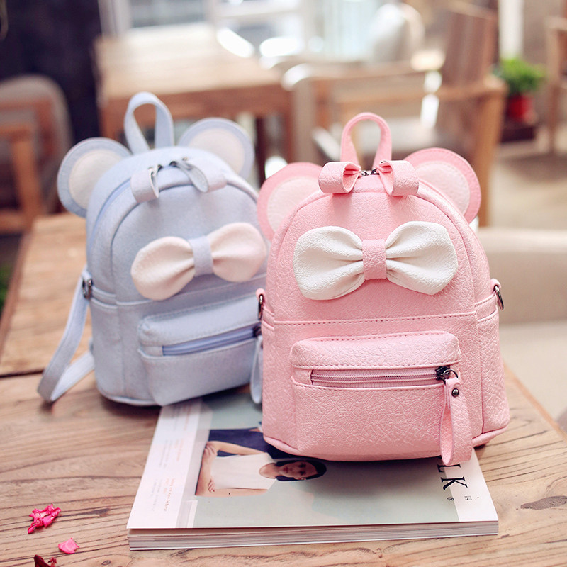 Badenroo Brand Women's Backpack 2018 Mickey Backpack Shoulder Bags Cute Bow Small Backpack For Adolescent Girls Rucksack Mochila
