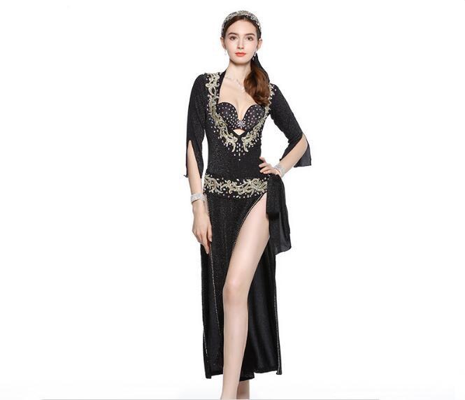 ISKANDARANI ABAYA DRESS COSTUME BALADI EGYPT HANDMADE BELLY DANCE GALABEYA