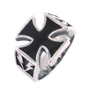 Немецкое армейское кольцо с железным крестом из нержавеющей стали, серебряные золотые классические кольца мужские для байкеров, оптовая продажа SWR0125A