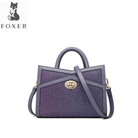 FOXER Golden Fox handbag bag female 2019 new fashion temperament Messenger bag two color fabric simple versatile shoulder bag