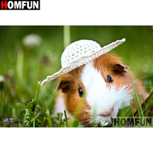 HOMFUN Full Square/Round Drill 5D DIY Diamond Painting Animal hamster 3D Embroidery Cross Stitch Home Decor A21353