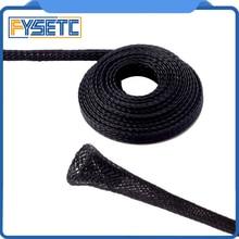 5 метров расширяемый плетеный ПЭТ Премиум кабель 6 мм/8 мм/10 мм Диаметр рукава Черный Сертификация ROHS 3d принтер аксессуары