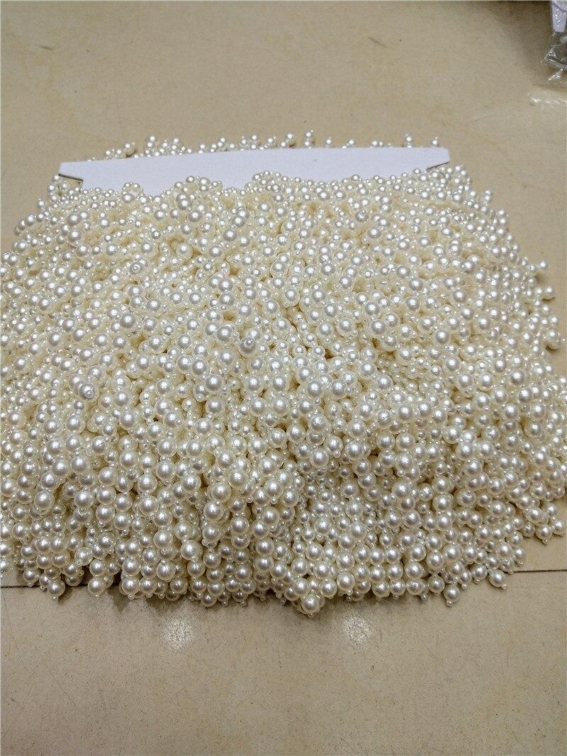 10 Yards Pearl Beaded Trim,  Pear Bead Rhinestone Trimming For Sash, Headband, Top Quality Wedding Decorastion JRB-1027