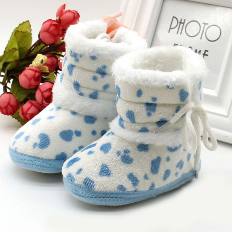 Baby Shoes New WINTER 0-18M Infant Kids Baby Girl Warm Boots Casual Soft Sole Fleece Warm Snow Booties Shoes M2