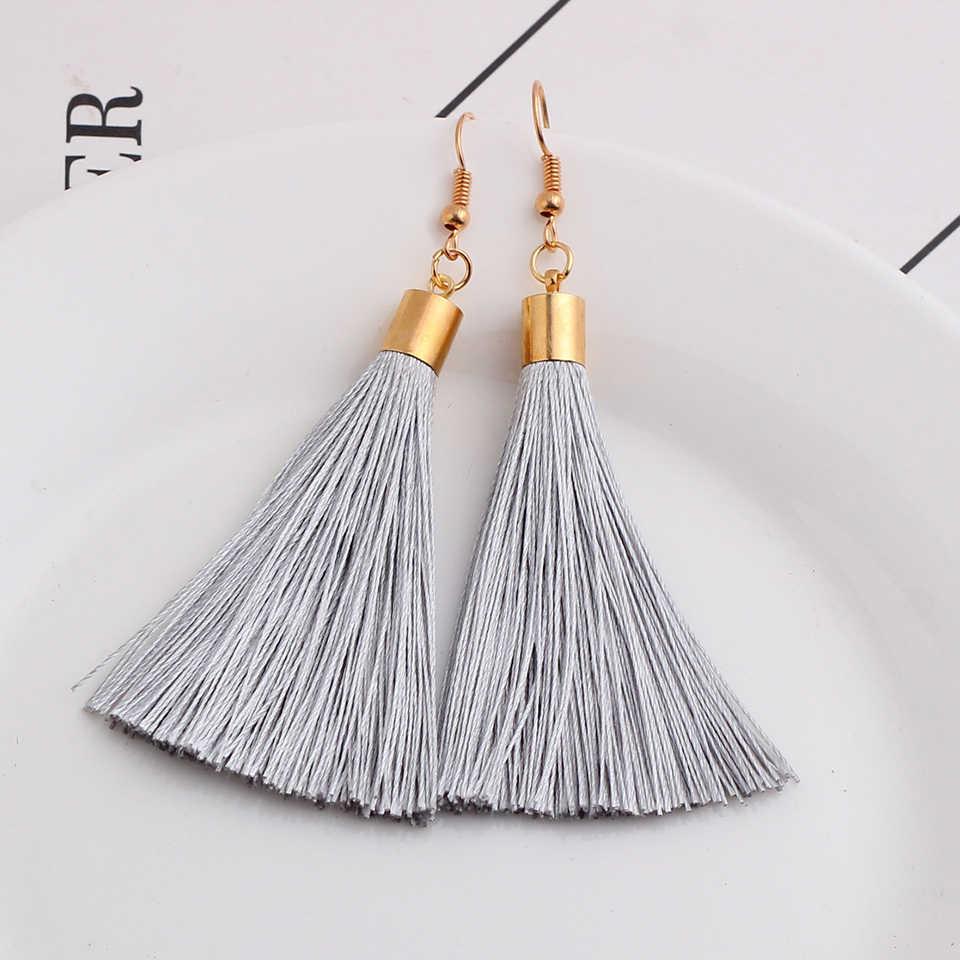 Bohême gland boucles d'oreilles vintage goutte pendaison pendientes mujer moda 2019 boucles d'oreilles pour femmes boucles d'oreilles mode bijoux oorbellen
