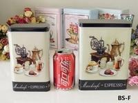 Rectangle Tin Box Tea Tin Box Food Tin Can Biscuit Metal Storage Box
