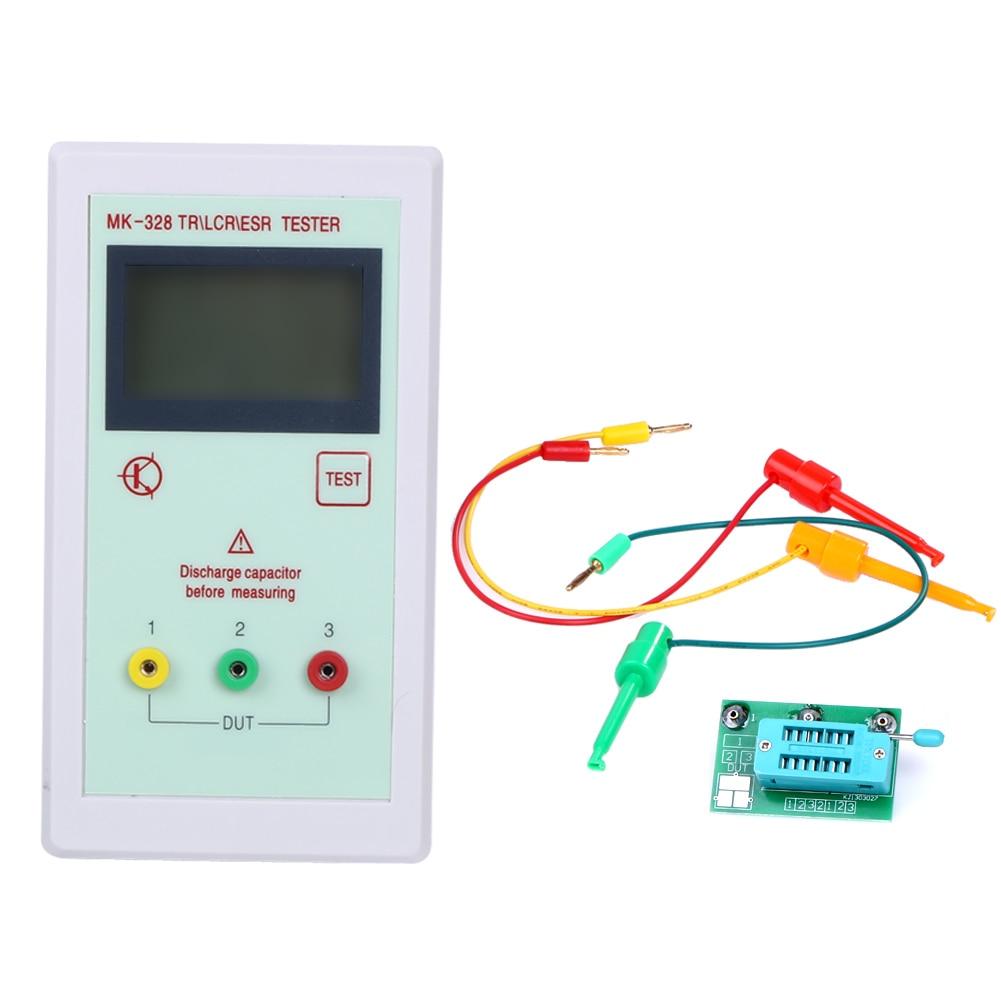 New Transistor Tester Portable Mk328 Lcd Npn Pnp Inductance Measuring Jig Circuit 12864 Backlight Diode Capacitance Esr Meter Mos