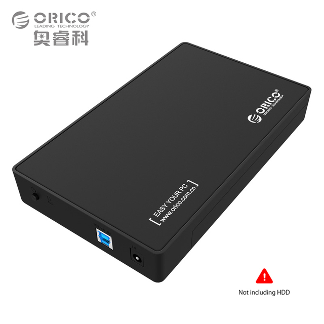3.5 Inch HDD Enclosure Case, USB 3.0 5Gbps to SATA Support UASP and 8TB Drives Designed  for Notobook Desktop PC (ORICO 3588US3)