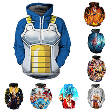 Japanese anime Dragon Ball Super Cosplay Hoodies Zipper Clothing hooded sweatshirt Unisex Adult hoodie Coat Jacket Tops