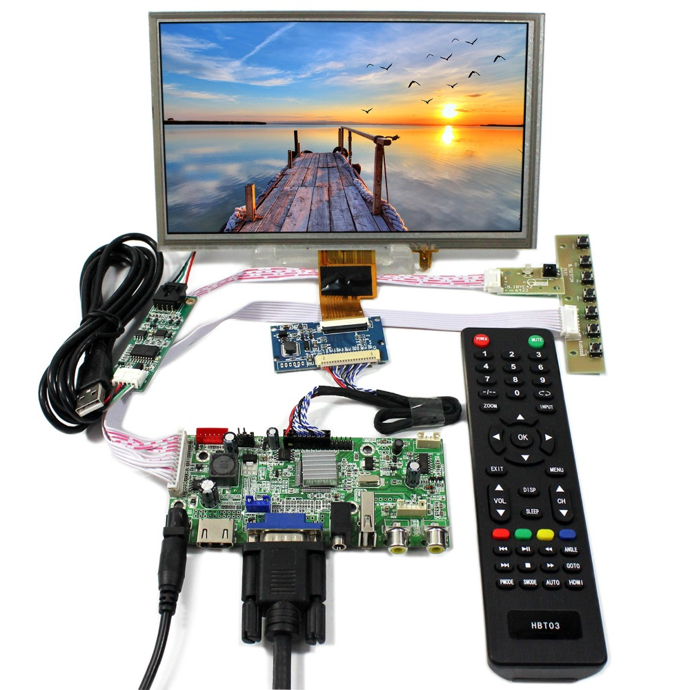 HDMI VGA 2AV USB LCD Controller Board With 8inch 1024x600 ZJ080NA-08A Touch LCD ScreenHDMI VGA 2AV USB LCD Controller Board With 8inch 1024x600 ZJ080NA-08A Touch LCD Screen