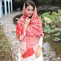 2017 four seasons National wind women scarves high quality fashion sexy tassel print floral keep warm women pashmina WJ99