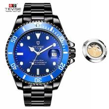 Tevise relojes mecánicos automáticos hombres reloj Relogio automatico masculino impermeable deporte de negocios reloj masculino t801