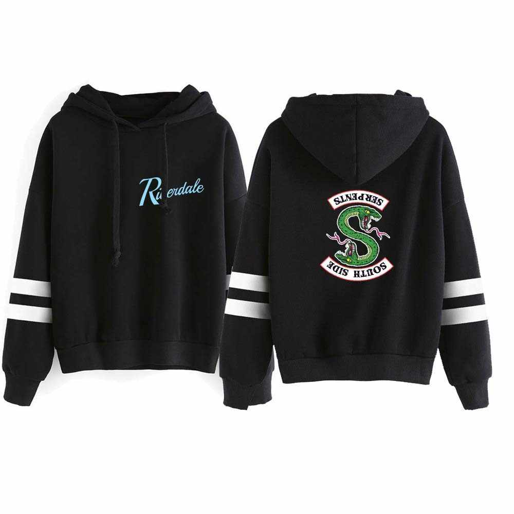 New Riverdale Hoodie Sweatshirts South Side Serpents Hoodie Women Long Sleeve Striped Pullover Tops Harajuku Hoodie Streetwear