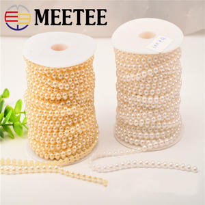 Beads Lace-Accessories Pearl-Link Decorative-Materials.zk170 Cotton Garment DIY 4mm 10-Meter