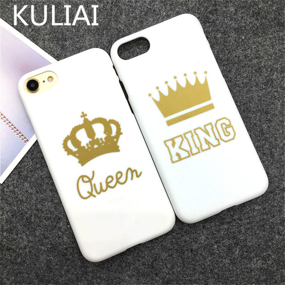 A pair of KING Queen Phone Case for iPhone 6 6s Plus Cover