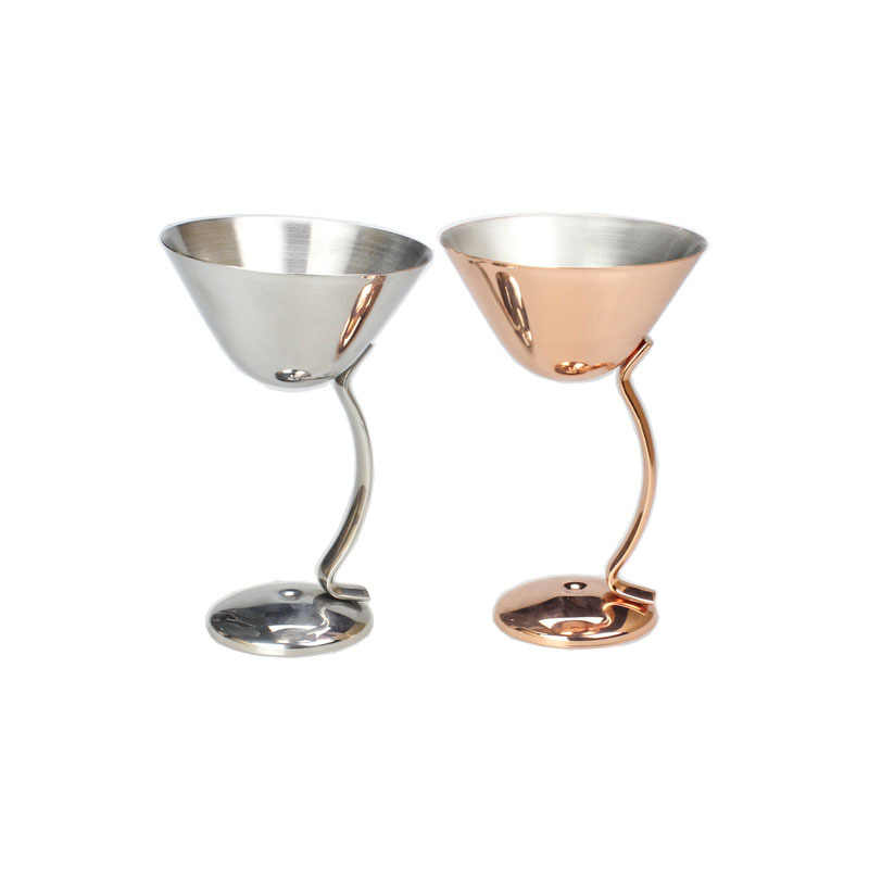100ml Cocktail Glass Red Wine Glass Creative Metal Goblet Bar Restaurant Martini Cup Margaret Mug
