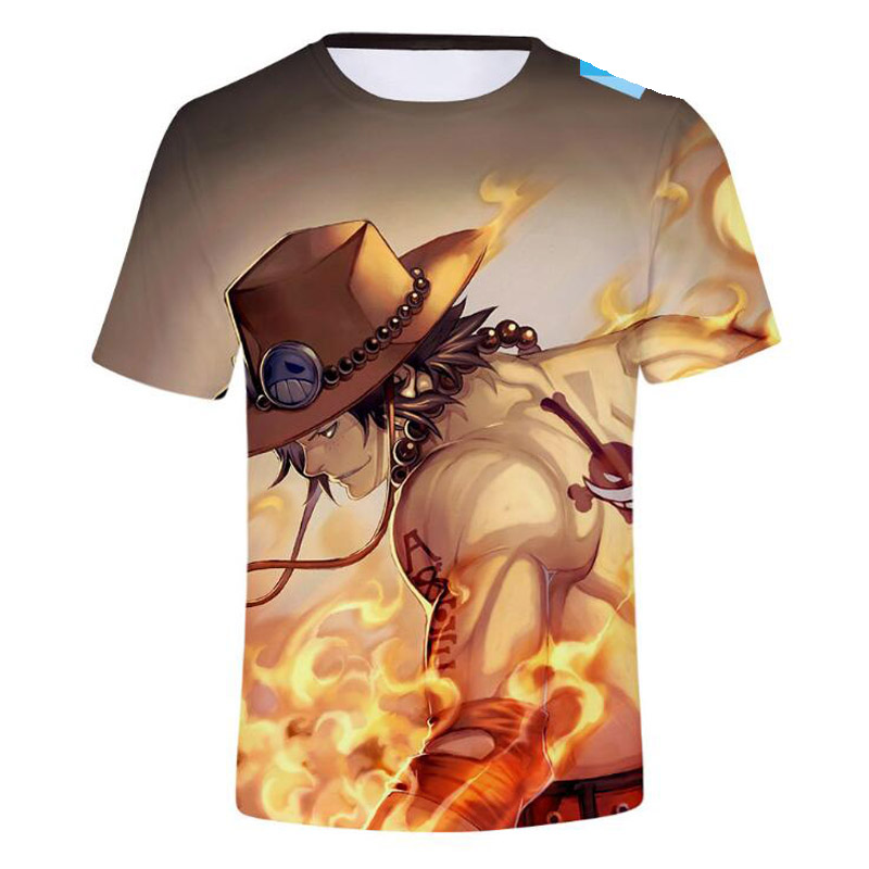 Japanese Anime One Piece 3D Printed T Shirt Men Summer Fashion Monkey D Luffy Funny Tshirt O-Neck Short Sleeve T Shirt Homme
