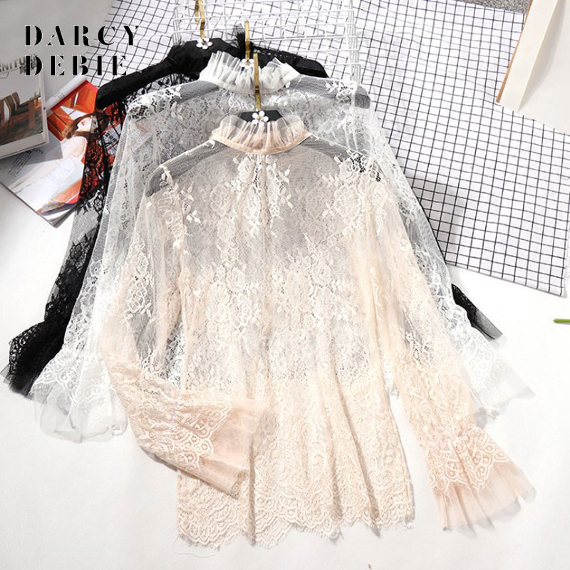 Darcydebie Women Sexy Harajuku Mesh Net See Through T Shirt Hollow Transparent Undershirt Star Base Top Camisas Femininas Clubwe