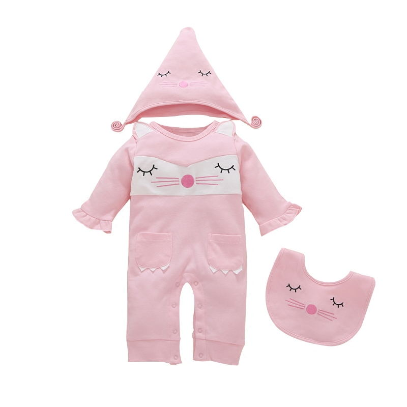 baby girl clothes long-sleeved conjoined spring and autumn baby princess cotton newborn full moon clothes Roupa bebe princesa