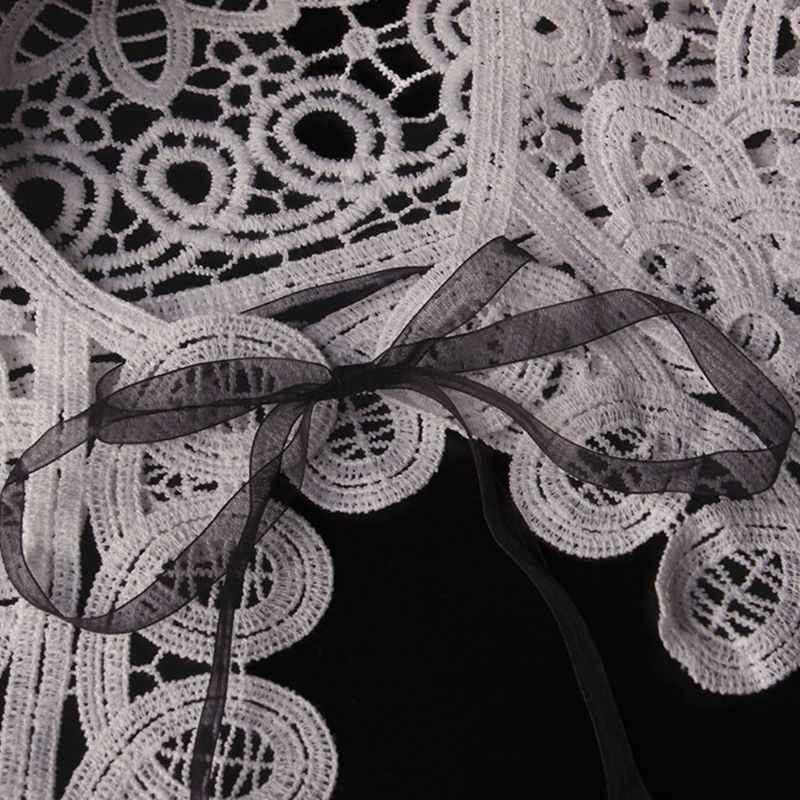 Женские элегантные аксессуары для одежды с фальшивым воротником Винтажный кружевной воротник-имитация открытая футболка съемные воротники