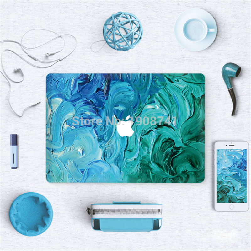 Blue And Green Paint Front Cover Laptop Decal Sticker Case