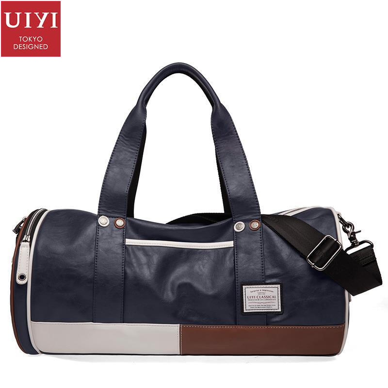 ФОТО UIYI Fashion Men PU Leather Brand Tote Handbag Bucket Shoulder Crossbody Messenger Sling Bag Teenagers Patchwork 150037381