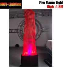 1.8M Fake Fire flame Lights 36pcs Led Cloth Silk Flame Lighting For Party KTV stage(China)